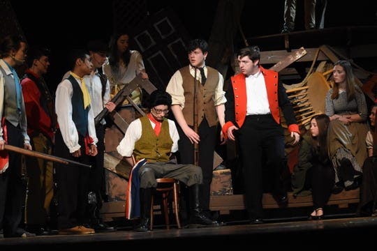 """Pineville High School Theatre will present """"Les Miserables: School Edition"""" at 7 p.m. Thursday, April 4 through Saturday April 6 and at 2 p.m. SundayÊat the Pineville High School Auditorium. Tickets are $13.50 for adults; $11.50 for seniors and $8.50 for students. For more information on tickets, visitÊwww.pinevillehigh.tix.com.""""Les Miserables,"""" based on the French historical novel by Victor Hugo,Êtakes place in 19th century France. Jean Valjean is released from prison where he was unjustly imprisoned for stealing a loaf of bread. He breaks parole and begins a new life but he is pursued by a police inspector named Javert. Valjean adopts a young girl, Cosette, and vows to her dying mother he will care and protect her. As a young woman, Cosette falls in love with a young student revolutionary, Marius. Though Valjean tries to live a quiet life, he gets swept up in the Paris Uprising of 1832."""
