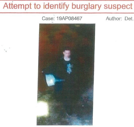 Have you seen this burglary suspect? If so, call the Asbury Park Police Department.