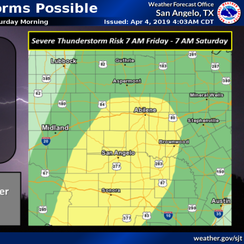 Thunderstorms expected to kick off weekend in Abilene, Big Country