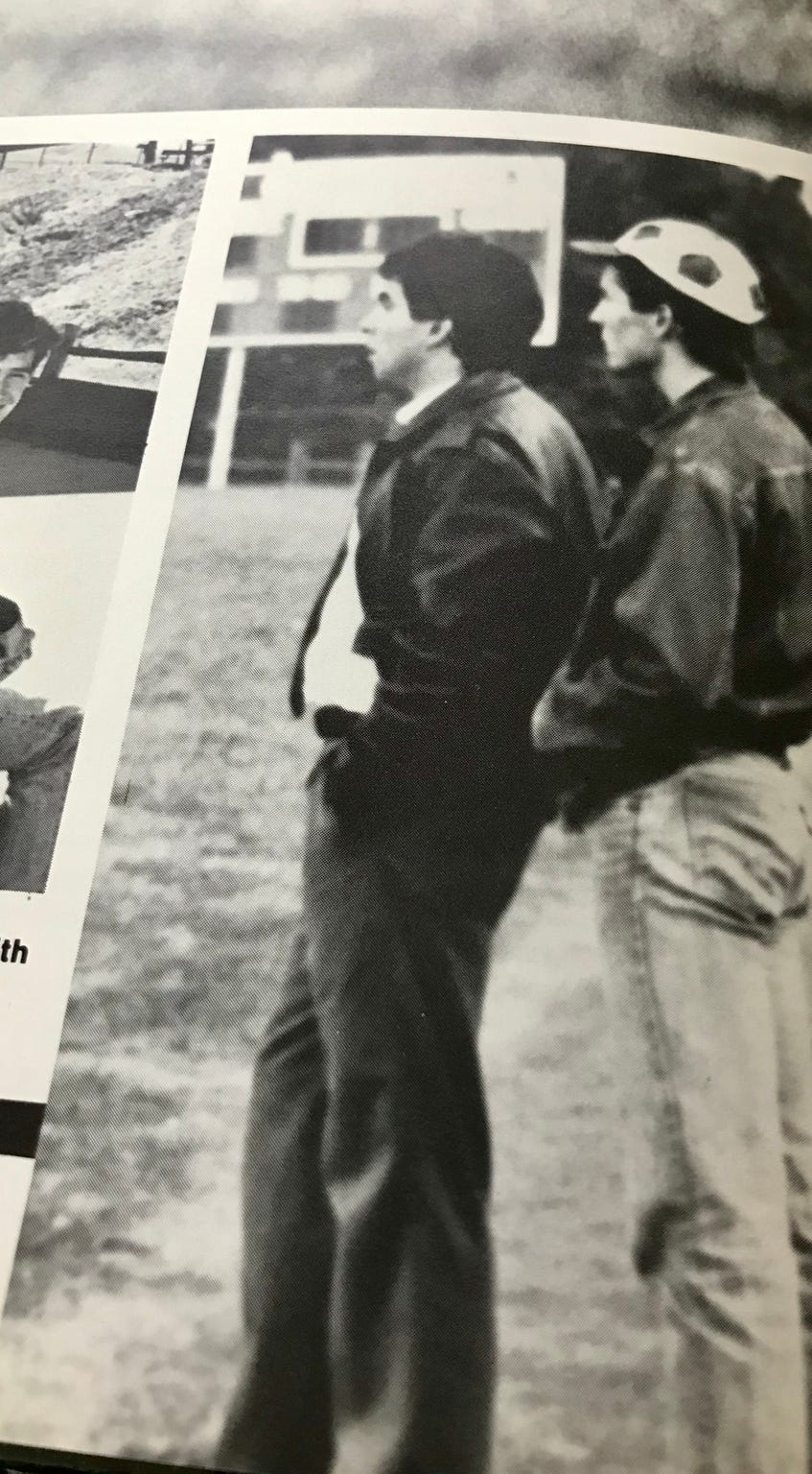 Bill Murdock while coaching during the 1987-88 year at Erwin High School.