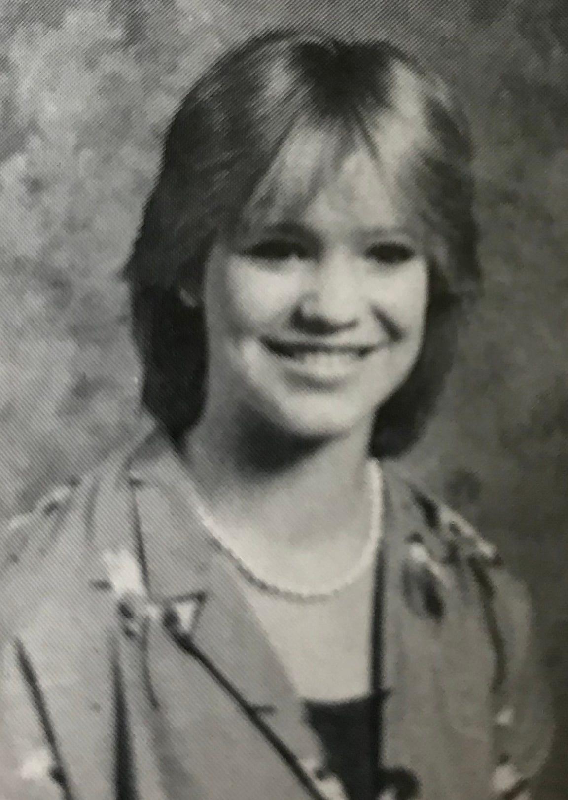 Shelley Love Baldwin in eighth grade.