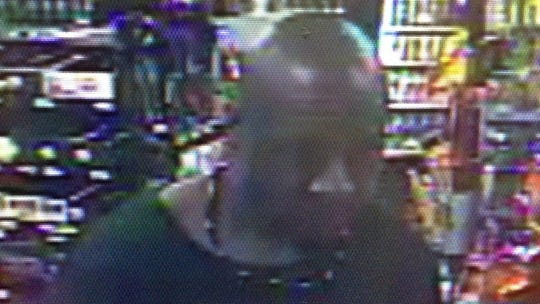 Security footage from the Hot Spot on Sweeten Creek Road, which was robbed by a man with a machete on Jul. 9, 2018.