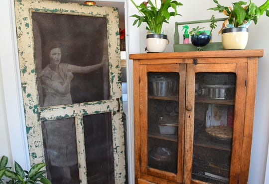 The interior door to the laundry room incorporates an image from past days.The Melbourne home of Steve Mitchell on Highland Avenue is part of the 2019 Historic Eau Gallie Home & Garden Tour. The tour takes place from 9:00am- 3:00pm on Saturday, April 13, and starts at the Rossetter House Museum and Gardens.