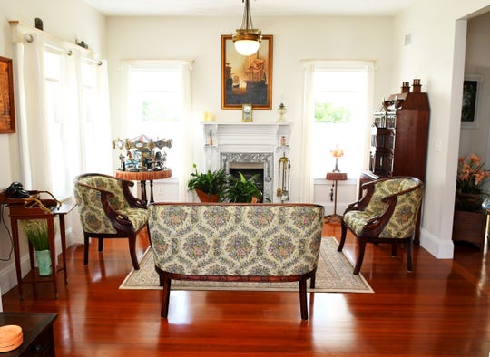 The parlor in the Melbourne home of Steve Mitchell on Highland Avenue, which is part of the 2019 Historic Eau Gallie Home & Garden Tour. The tour takes place from 9:00am- 3:00pm on Saturday, April 13, and starts at the Rossetter House Museum and Gardens.