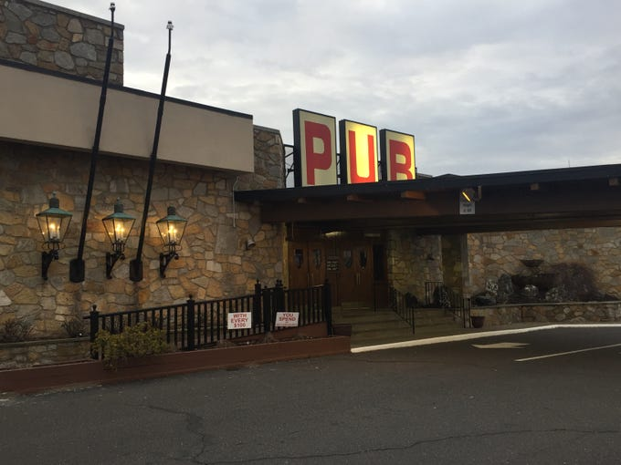 The latest restoration project at the Pub in Pennsauken are the two original  torches at the front entrance in between the lanterns. Pub business partner Marc Gelman is searching for  for parts to relight them
