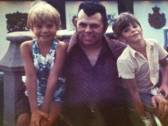 Raul 'Cooks Books' Suarez hangs out with his niece, Blanche Morro, and nephew, Mario Suarez in the early 1970s. Morro said she and her brother are the only surviving relatives of Raul Suarez, who she describes as a 'second dad.'