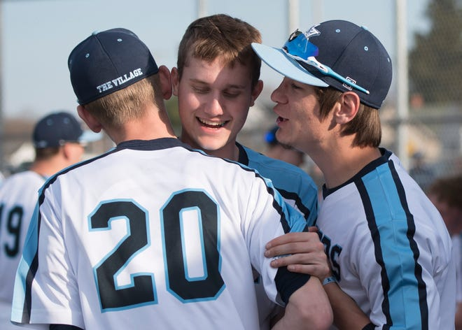 Adena baseball's Ethan Kunkel won the male award as he was the winning pitcher, throwing a complete game, not allowing an earned run, and he struck out 10 batters in a 7-2 win over Piketon on April 10th.