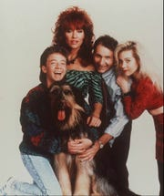"""Fox TV debuted in 1987 with """"Married ... With Children,"""" starring the Al Bundy family: from left, David Faustino (Bud), Katey Sagal (Peg), Ed O'Neil (Al) and Christina Applegate (Kelly)."""