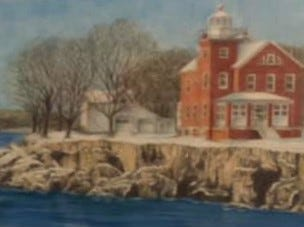 Thom Van Benschoten made this seaside pencil drawing for the Lancaster family.
