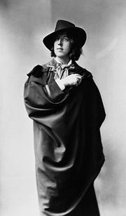 A portrait of 27-year-old Oscar Wilde to promote his first American lecture tour in 1882.