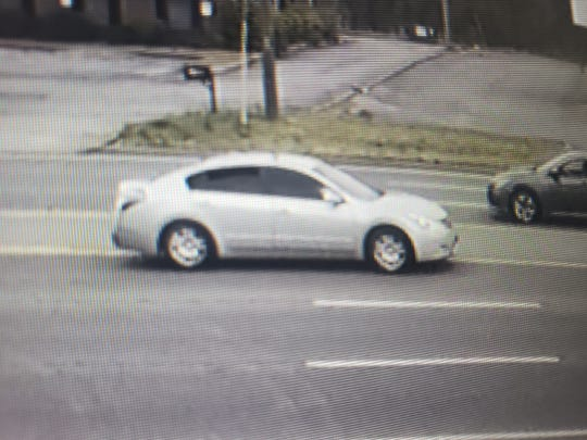 The vehicle believed to be at the center of a drive-by shooting Wednesday afternoon, April 3, 2019, on Fort Campbell Boulevard.