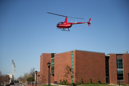 GOV 3 is one of three in APSU's helicopter fleet