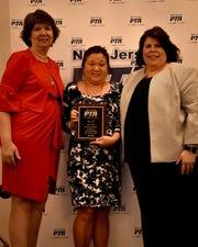 Left to right: Denise Sultz – National PTA Secretary-Treasurer, Amy Barro – North Hunterdon PTSA President, Rose Acerra – New Jersey PTA State President