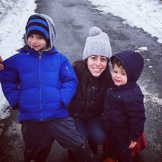 """Westfield resident and Pregnancy Loss Support Program Peer Counselor, Danielle """"Elle"""" Michaeli with sons, Joseph and Jacob"""
