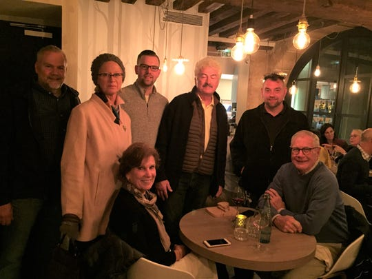 Michael LaValle and crew posing with Mimi Elder, retired editor Gourmet Magazine during a trip to France for the 18th Cuisiniers de la Loire Trophy Contest.