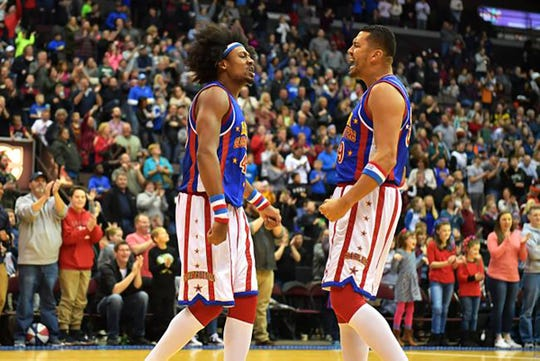 The Harlem Globetrotters will perform Sunday, April 14 at 2 p.m. at Wells Fargo Arena.