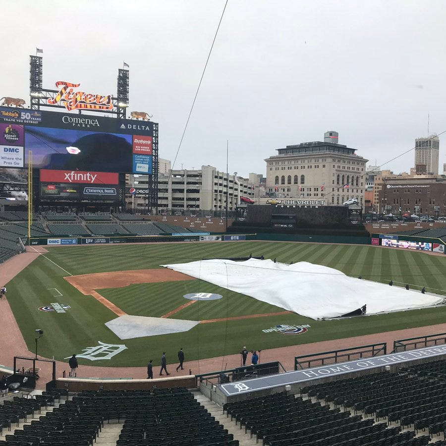 Play ball! Tigers appear to dodge bad weather for home opener