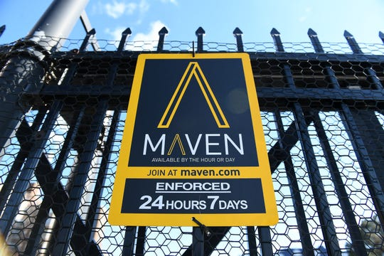 Maven's smartphone app allows customers to locate an available vehicle to drive, unlock it in the app and rent the car starting at $8 per hour.