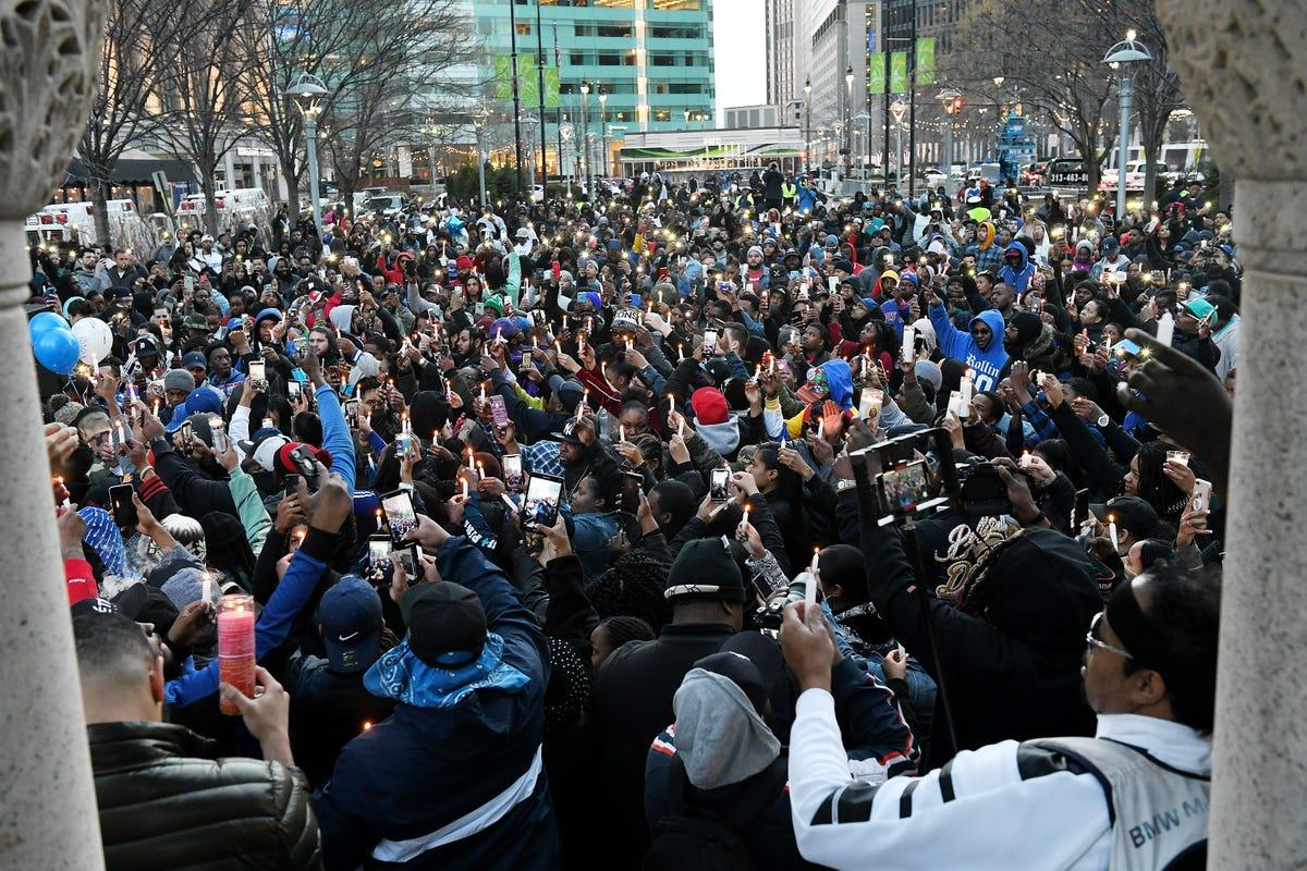 Hundreds mourn slain rapper Nipsey Hussle in Detroit