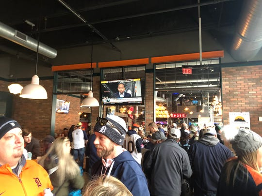 """For the home opener, Punch Bowl was boasting shareable dishes like a """"sheetload"""" of nachos or a platter of chicken wings."""