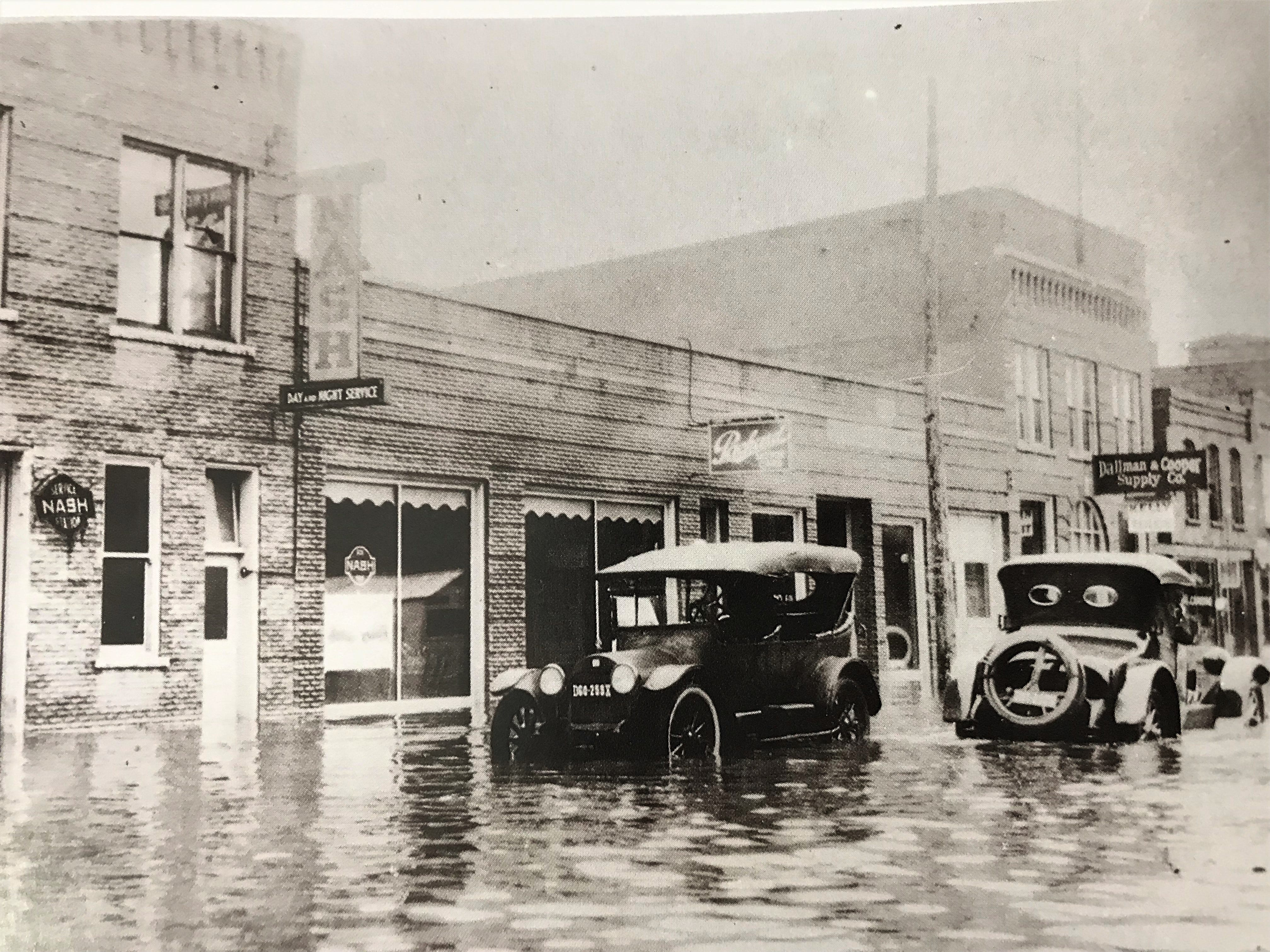 Third Street was a river in the wake of the 1924 flood in Fond du Lac. The city recorded 8 inches of rain in a 24-hour period between Aug. 5 and 5, 1924.