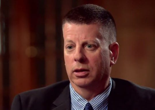 """Sean O'Connell being interviewed by NBC's """"Dateline"""" for a show that aired March 29."""