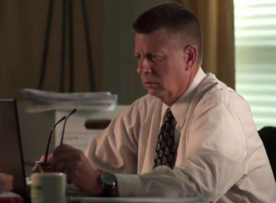 "Sean O'Connell re-creating investigation scenes for ""Dateline."""