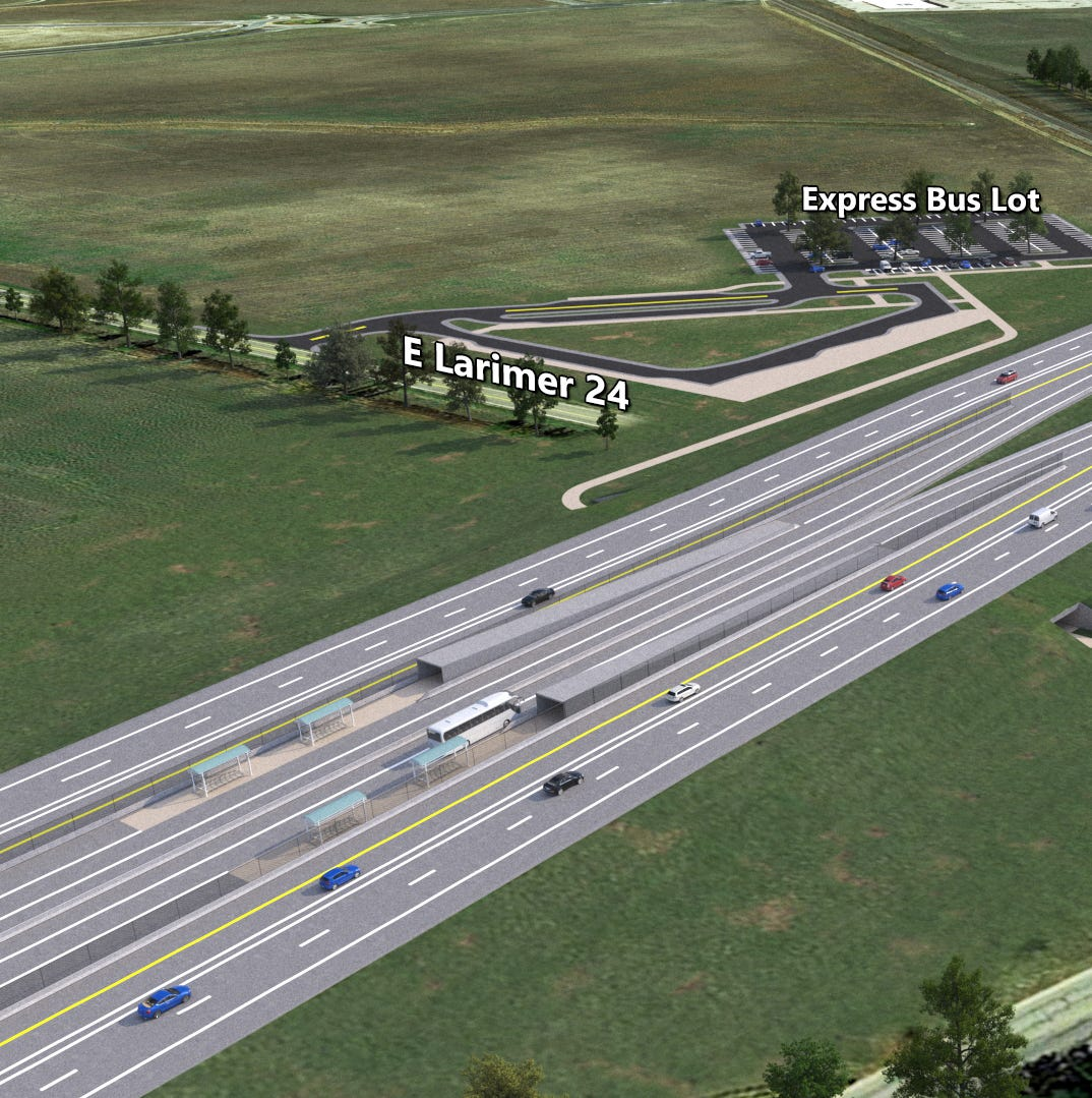 Colorado is putting a bus stop in the middle of I-25. Here's how it will work.