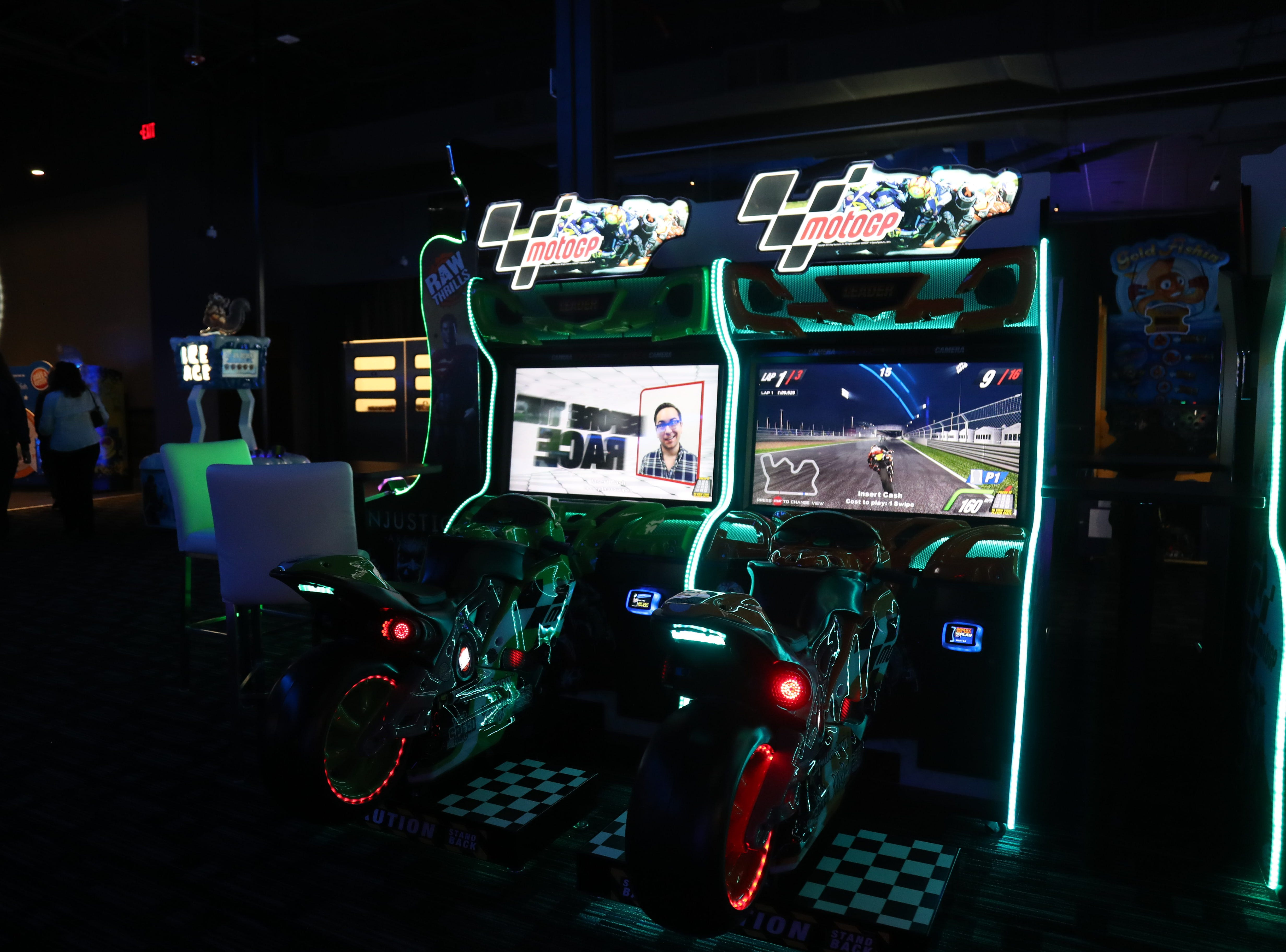 Dave & BusterÕs at Bell Tower Shops has 40,000 square feet of entertainment; chef-crafted food, inventive drinks, hundreds of the newest arcade games and state-of-the-art sports bar. They plan to open April 8th.