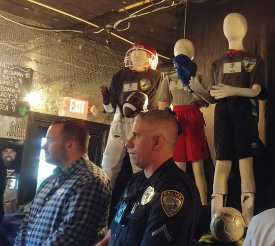 Mannequins represent some of the sports the Cape Coral Police Athletic League supports.