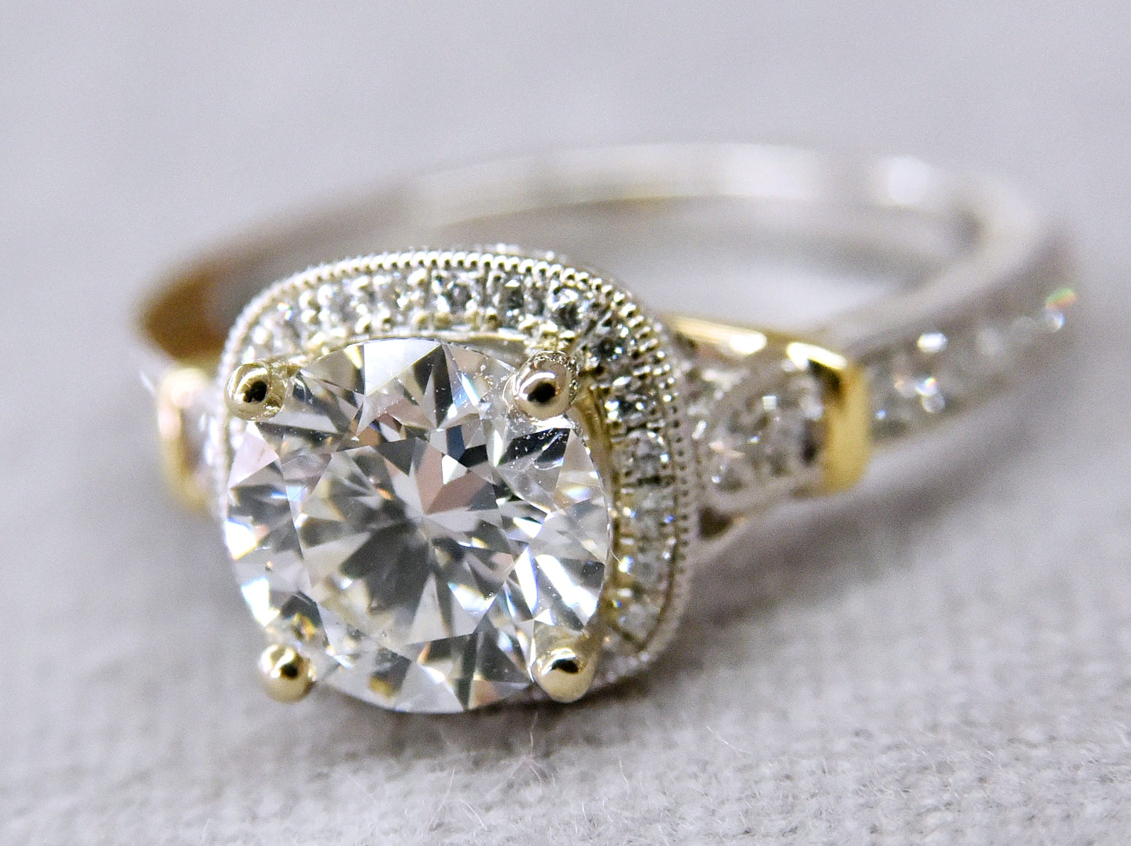 A diamond engagement ring from Pace Jewelers.