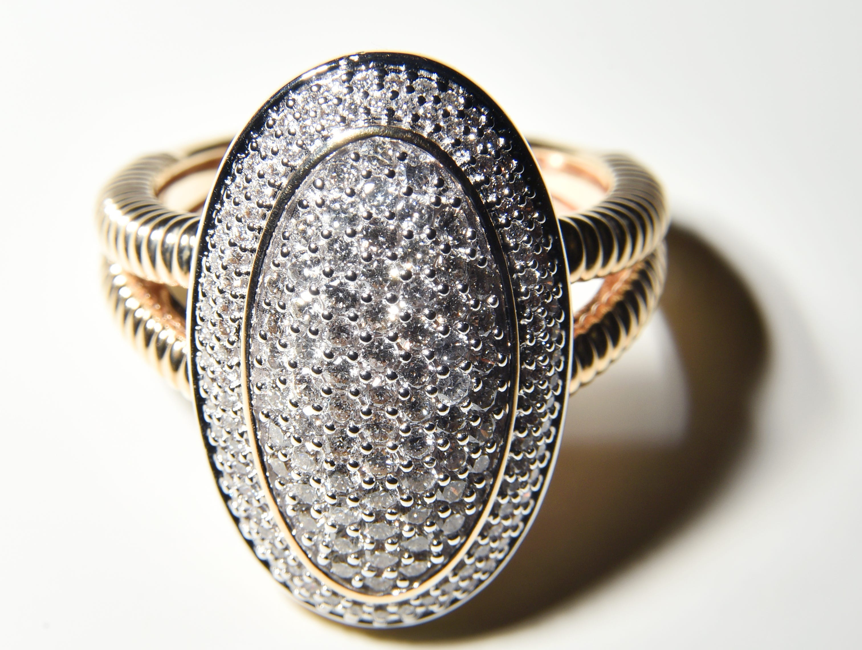 A diamond ring from Pace Jewelers.