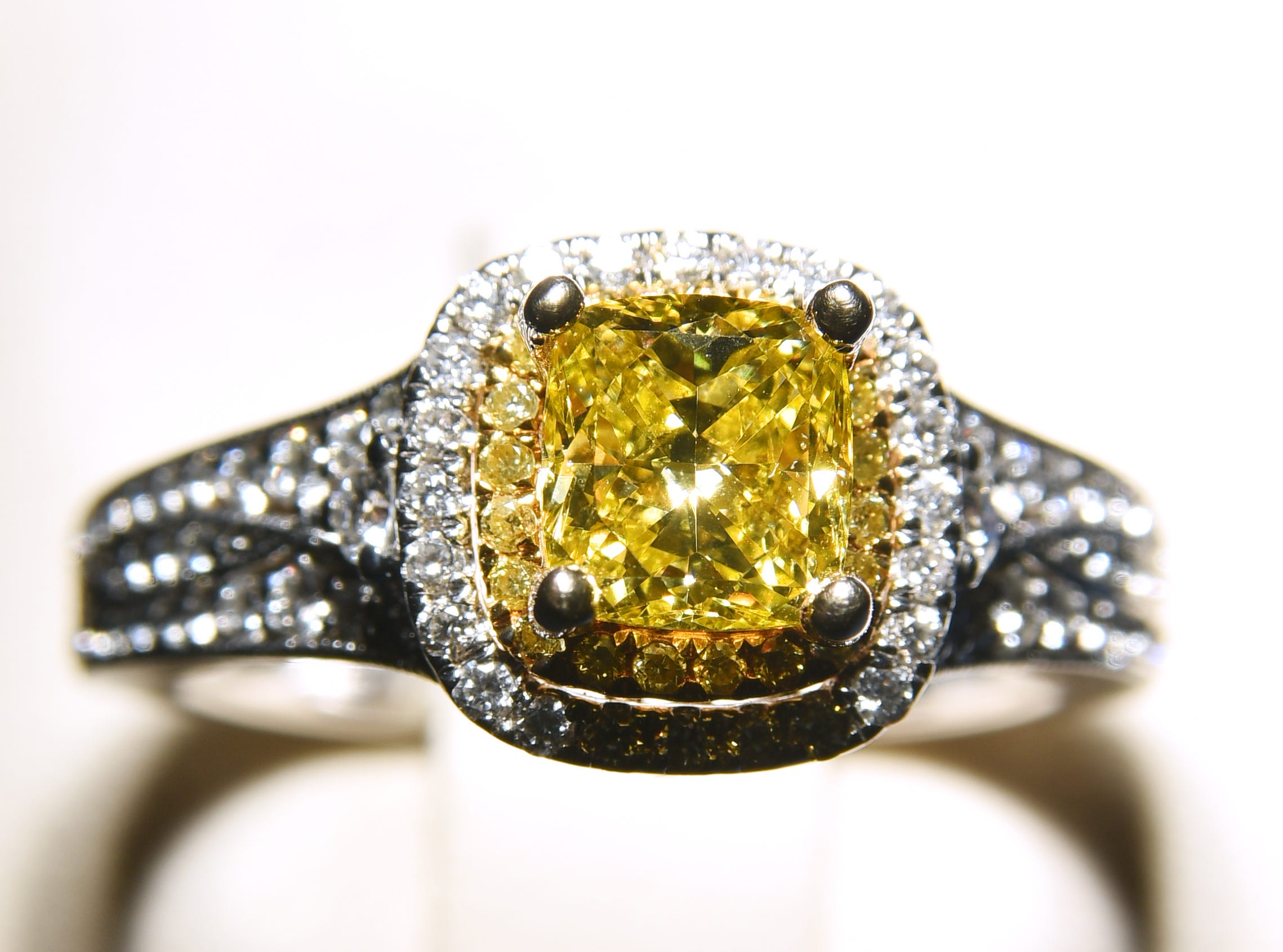 A yellow and white diamond ring from Pace Jewelers.