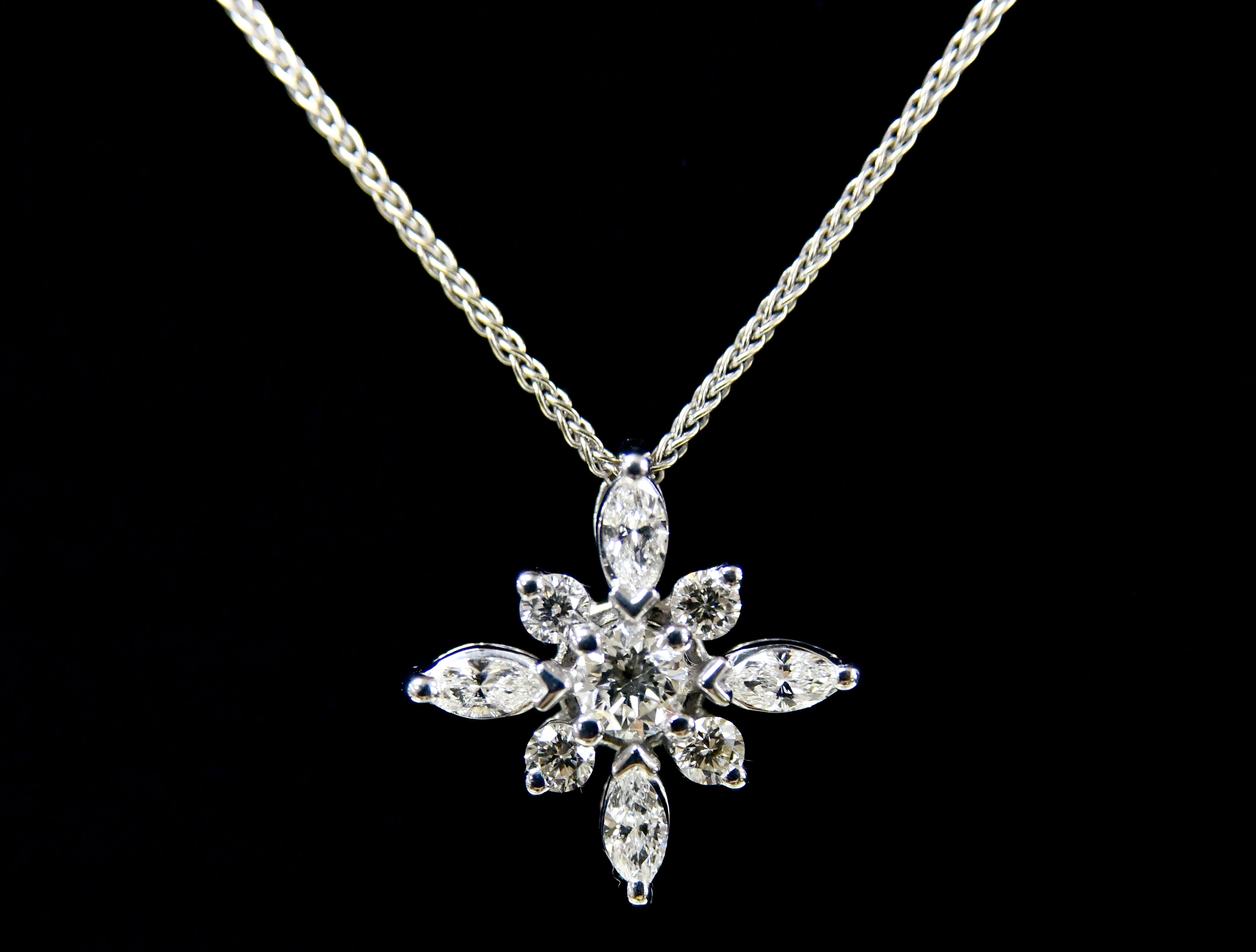 A handmade diamond pendant necklace from Julie's Jewels and Gifts