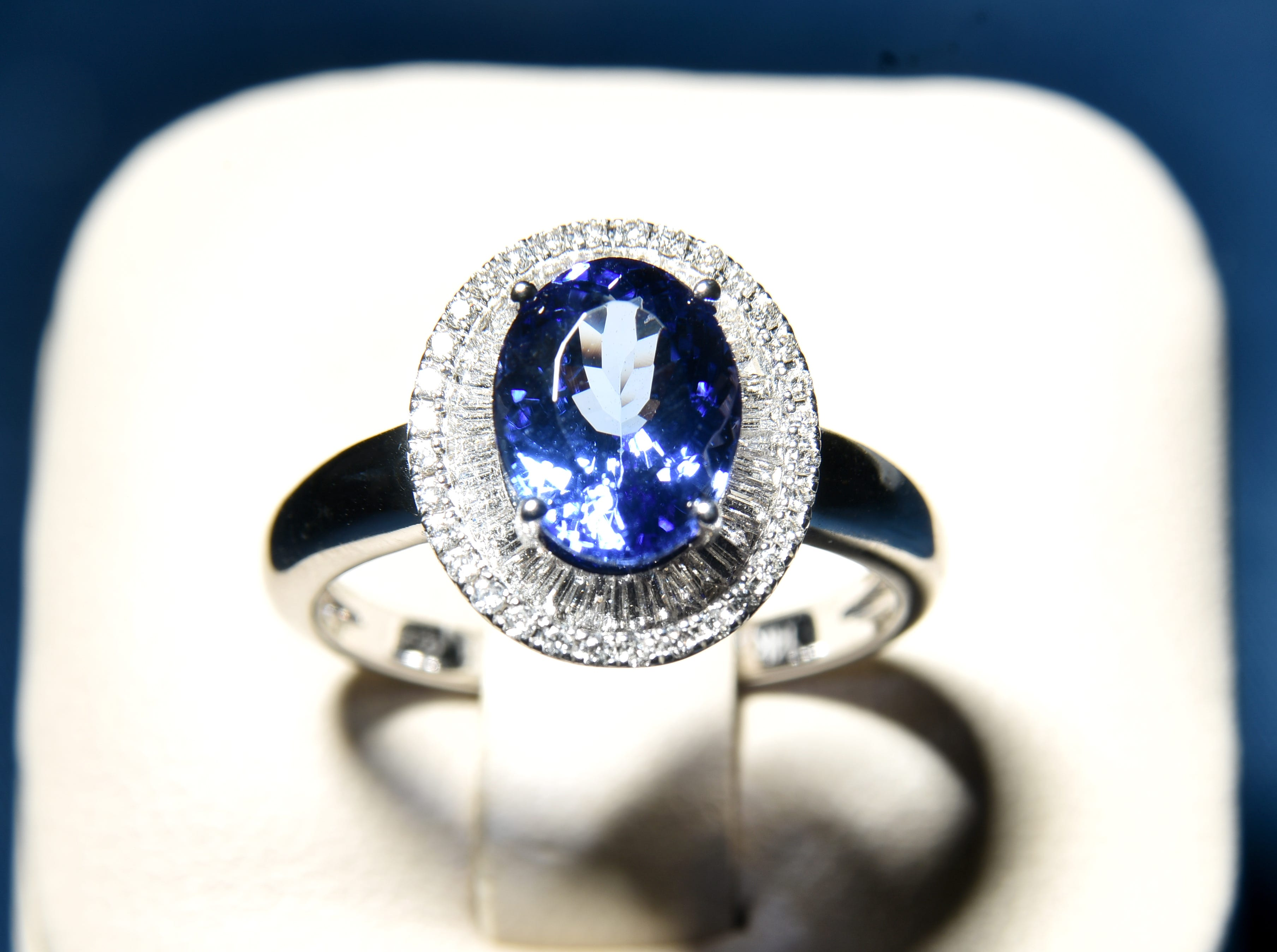 A tanzanite ring from Pace Jewelers.