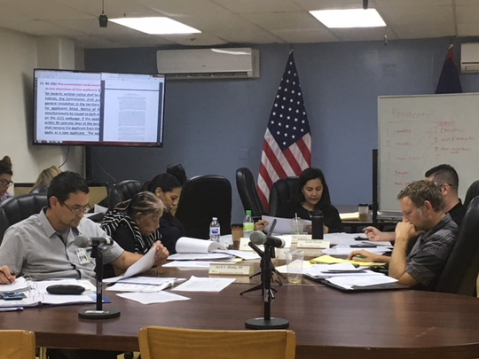 CHamoru Land Trust commissioners Thursday afternoon discuss proposed changes to the Land Trust's rules and regulations.