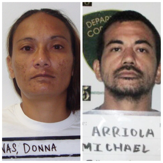 Donna Castro Mafnas and Michael Jason Arriola are shown in this combined photo.