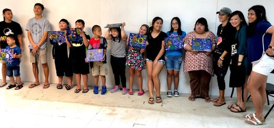 Painting events were held Jan. 19 and Feb. 9 at Agana Shopping Center for individuals with Down Syndrome.