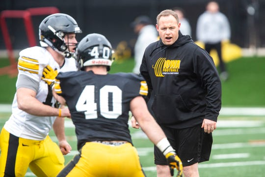 Iowa linebackers coach Seth Wallace has been an instrumental part of the Hawkeyes' defense as coordinator Phil Parker's right-hand man.