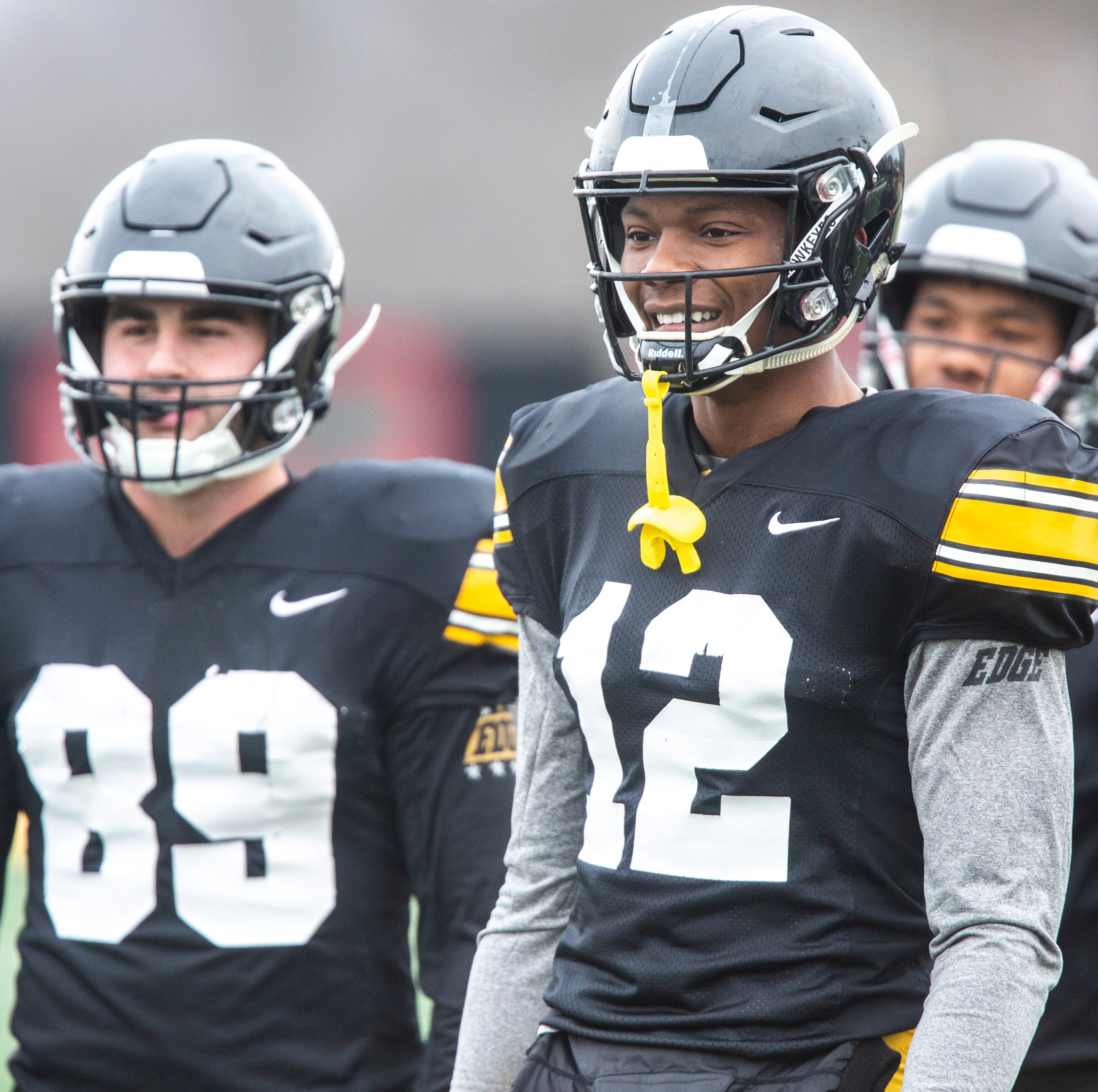 Leistikow's 9 thoughts: Hard-to-miss buzz about Iowa WRs Nico Ragaini, Tyrone Tracy Jr.