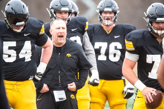 Assistant coach Tim Polasek broke down Iowa's offensive line in depth Tuesday, from the stalwart tackles (Alaric Jackson and Tristan Wirfs) to the youngsters (like Ezra Miller and Cody Ince).