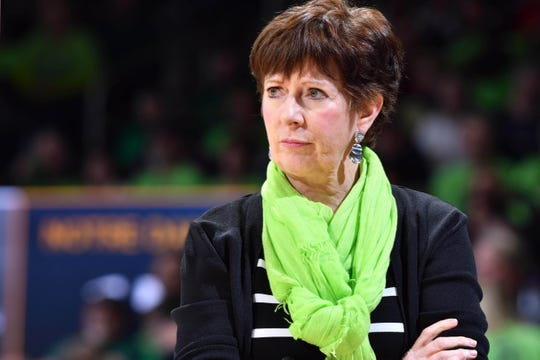 Notre Dame coach Muffet McGraw says she will hire only female assistants moving forward.