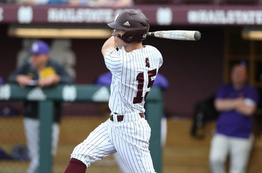 Mississippi State senior center fielder Jake Mangum had another multi-hit game in the Bulldogs' win over ULM.
