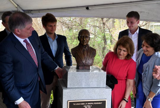 The dedication of the Jonas A. Kisber, Jr. Memorial Roundabout was held Thursday, April 4.