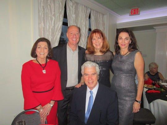 Jeanie Rush , Jay and Margaret Ruffin, Gina and David Calogero