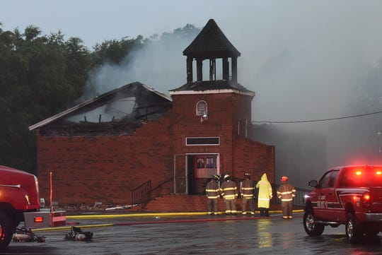 Mt. Pleasant Baptist Church in St. Landry Parish was damaged in a fire Thursday.