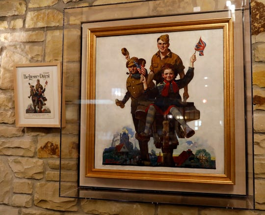 An original painting by Norman Rockwell is one of the items left to Wagnalls Memorial by its founder Mabel Wagnalls Jones.