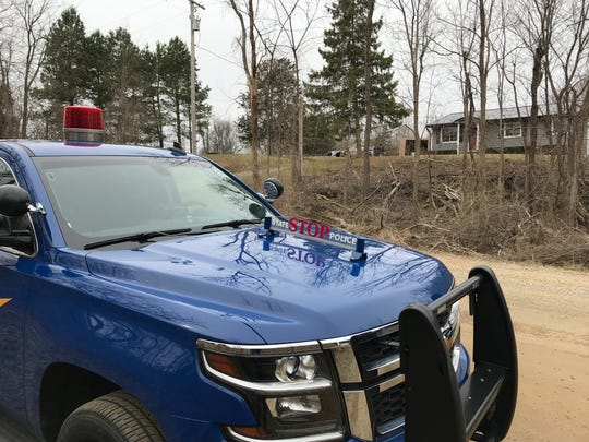 Police were called to the 7000 block of Owosso Road in Conway Township for a suspected explosive device on Thursday, April 4, 2019.