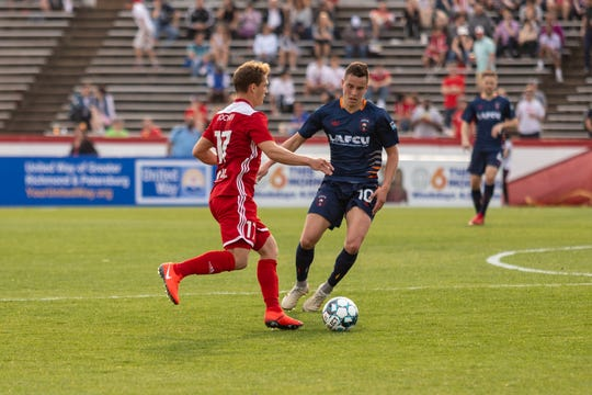 Lansing Ignite midfielder Xavier Gomez had a goal and an assist in the team's win over Richmond on Saturday.