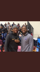 Cassius Winston (left) poses for a photo with his younger brother, Zach.